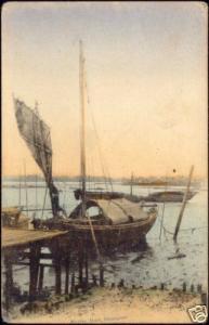 singapore, Native Fishing Boat (1910s)