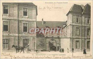 Old Postcard Besancon Barracks Lyautey (militaria)