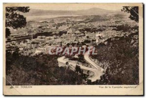 Old Postcard Toulon View of the upper ledge