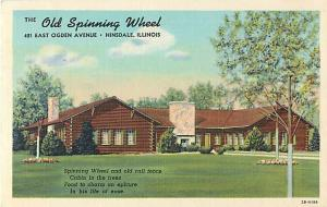 The Old Spinning Wheel Restaurant Hinsdale Illinois Postcard