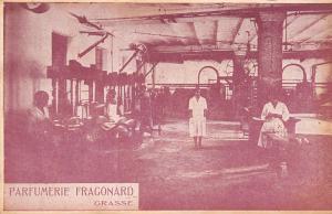 Grasse France~Fragonard Parfumerie Factory Interior~Lady Workers~1920s Postcard