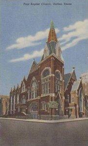Texas Dallas First Baptist Church