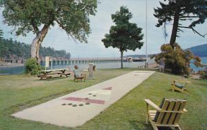 GULF ISLANDS, British Columbia, Canada, 1940-1960´s; Galiano Lodge Across Th...