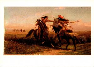 Indians Jousting By William M Cary