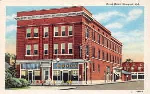 C34/ Newport Arkansas AR Postcard c1940s Hazel Hotel Building