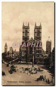 Old Postcard Westminster Abbey London
