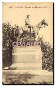 Old Postcard Mont Cassel Statue Marechat Foch