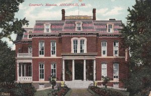 ANNAPOLIS, Maryland, 1900-1910s; Governor's Mansion