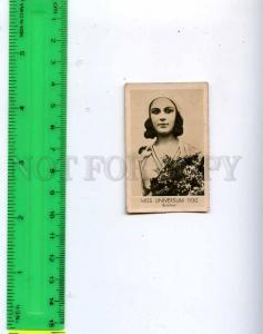 188457 Miss UNIVERSUM BRAZIL 1930 Vintage photo CIGARETTE card