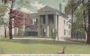 Indiana Fort Mayne Homestead Of Hon Samuel Hanna Founder Of Fort Wayne