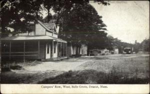 Dracut MA Campers Row Belle Grove c1910 Postcard