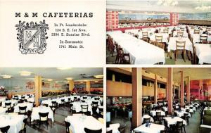 Miami-Ft Lauderdale-Sarasota Florida~M&M Cafeterias~3 Dining Rooms~1950s Pc