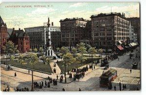 Lafayette Square, Buffalo, New York - c1905 UDB Postcard