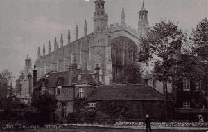 Tucks Vintage Postcard Eton College Chapel Berkshire No.1869 Silverette Series 1