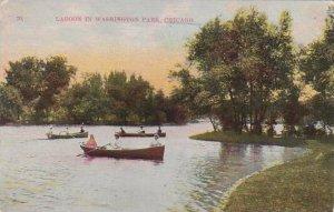 Illinois Chicago Lagoon In Washington Park 1911