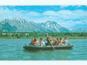 Pre-1980 SNAKE RIVER TOURIST BOAT RIDE Moran Junction by Jackson Hole WY AE5800