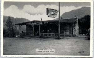 Cumberland Gap ,Tennessee Postcard LITTLE TUNNEL INN Roadside LUNCH 1940s Unused