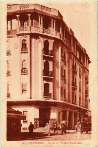 CPA AK MAROC CASABLANCA - Entrée de l'Hotel Excelsior (281153)