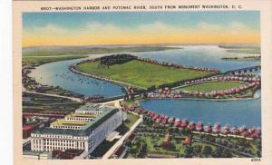 Washington DC Washington Harbor And Potomac River South From Monument Washing...