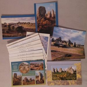 Lot 15 postcards France Carnac Bretagne Morbihan Dolmen
