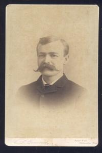 WILLIMANTIC CONNECTICUT CT REAL PHOTO MOUNTED PHOTOGRAPH 1890's MOUSTACHE