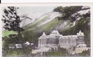 RP; Hand-colored, The Banff Springs Hotel, Banff, Alberta, Canada, 10-20s