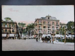 Egypt: Caire, Place de L'Opera, Old Postcard