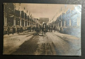 Mint Vintage WWI Soldiers on Horse Back Avenue de Triomphe France RPPC