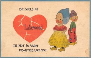 De Girls in Lakewood New York~Are Not Warm-Hearted Like You~Broken Heart~1914
