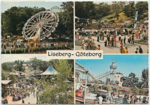 Liseberg - Goteborg, Sweden, Amusement Park, multi view, 1977 used Postcard