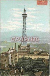 Old Postcard Lyon the metal tower