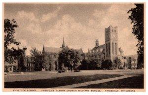 Minnesota  Fairbault Shattuck School , CHurch Military School