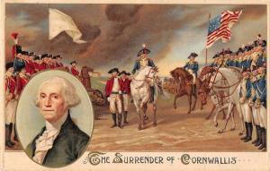 Patriotic Greetings Surrender of Cornwallis Winsch Vintage Postcard JD933332