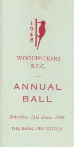 Woodpeckers Rugby Football Club Fen Ditton Cambridge 1955 Ball