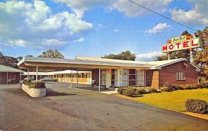 Suffolk VA Jon-Del Motel Old Cars, Postcard