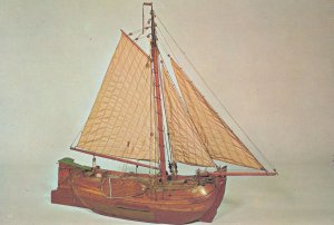 Palingaak Eel Barge Ship Model Boat Museum Postcard