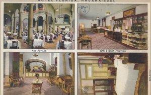 HAVANA, Cuba, 1910-20s; Hotel Florida, 4-views
