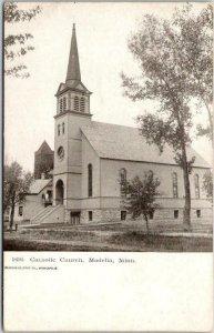 Madelia, Minnesota Postcard CATHOLIC CHURCH Building / Street View c1900s Unused