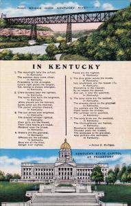 High Bridge over Kentucky River & State Capitol at Franckfort,  In Kentucky...