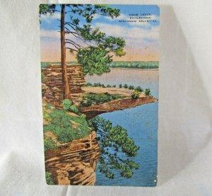 WISCONSIN DELLS, Wi ~ Visor Ledge Stand Rock Hornets Nest Lake Vintage Postcard