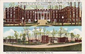 Wells Hall Girls Dormitory Murray State Teachers College West Campus View Mur...