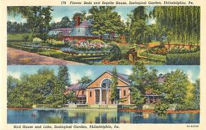 Flower Beds & Reptile House Zoological Garden in Philadelphia Pennsylvania PA, L