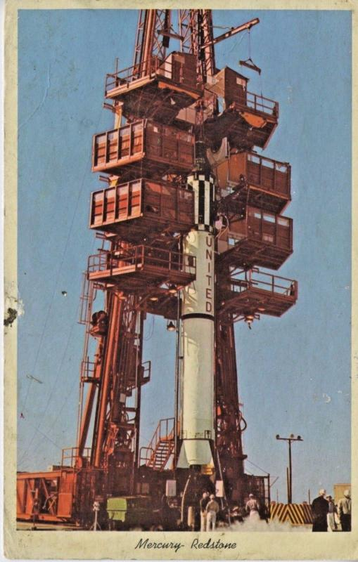 NASA Mercury-Redstone Cape Kennedy Launch Site FL Florida c1968 Postcard D23