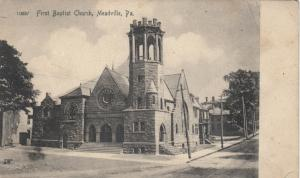 MEADVILLE, Pennsylvania, 1901-07; First Baptist Church