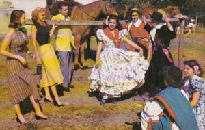 Argentina Buenos Aires Gouchos and Girls Performing Folk Dances Pan American ...