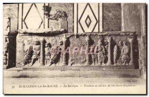 Old Postcard St Maximin La Ste Baume Basilica alabaster tomb of St. Mary Magd...