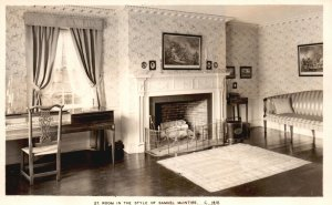Vintage Postcard 1920's Room In The Style of Samuel McIntire Craftsman Architect