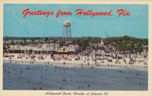 Beach, Water Tower, Store Fronts, HOLLYWOOD, Florida, 40-60´s