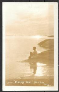 "1939 Canada Ontario, ""Evening Calm"", Geo Bay, mailed"