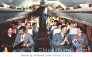 Northwest Orient Airlines,DC6B Airline, Airlines, Airplane, Airplanes, Postca...